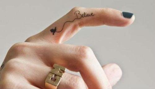 Tatuaggi Believe